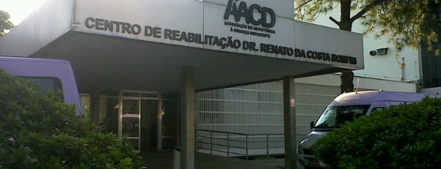 Associação de Assistência à Criança Deficiente (AACD) is one of Tempat yang Disimpan César Eduardo.