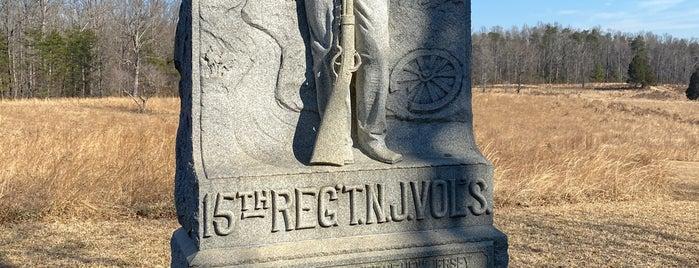 Spotsylvania Courthouse Battlefield is one of Joshua Lawrence Chamberlain.