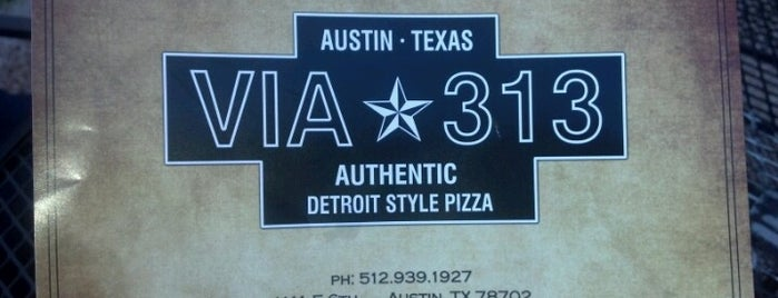 Via 313 is one of pizza!.