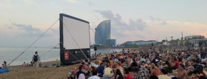 Cinema Lliure A La Platja (cada dijous d'estiu al vespre) is one of Dog-friendly Barcelona and Spain.
