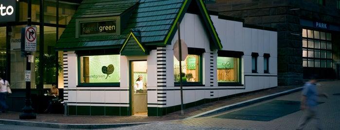 sweetgreen is one of Vegan/Vegetarian Spots.
