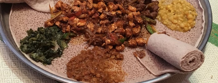 Queen Sheba Ethiopian Cuisine is one of NC to try.