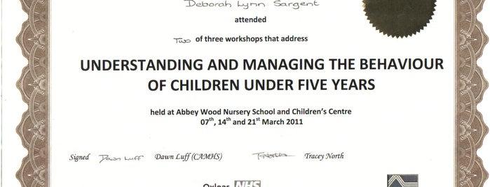 Abbeywood Nursury School & Children's Centre is one of Tempat yang Disimpan Deborah Lynn.
