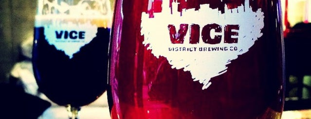 Vice District Brewing is one of CHI Booze/Beer.