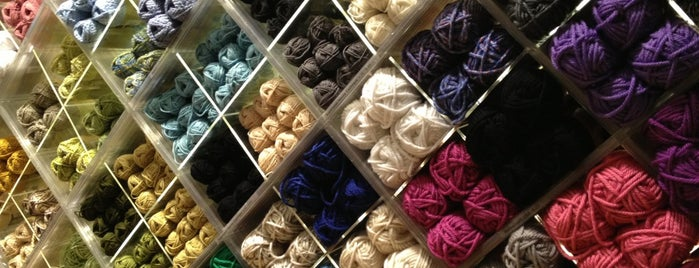 Lion Brand Yarn Studio is one of NYC.
