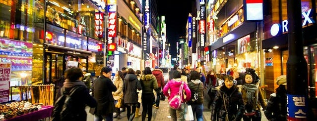 Myeongdong-street is one of Lieux sauvegardés par Worldbiz.