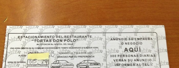 Tortas Don Polo is one of Lugares favoritos de Oscar.