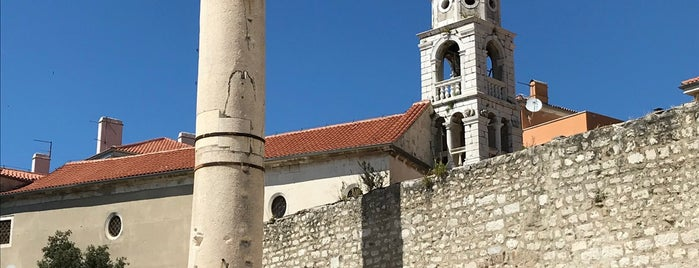 Stup srama (Pillar of Shame) is one of Zadar.