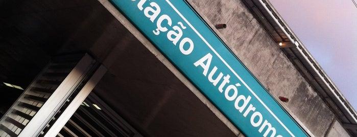 Estação Autódromo (CPTM) is one of Gespeicherte Orte von Dade.