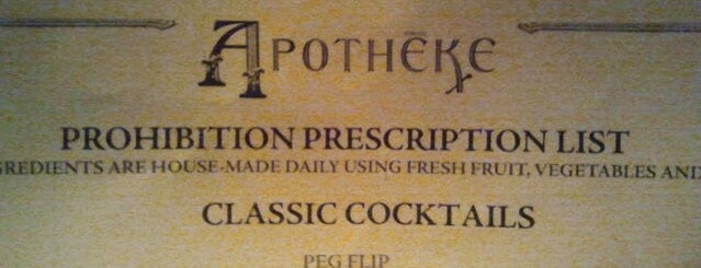 Apothéke is one of Cocktail Lounges of NYC.