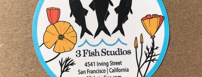 3 Fish Studios is one of SF Date Ideas.