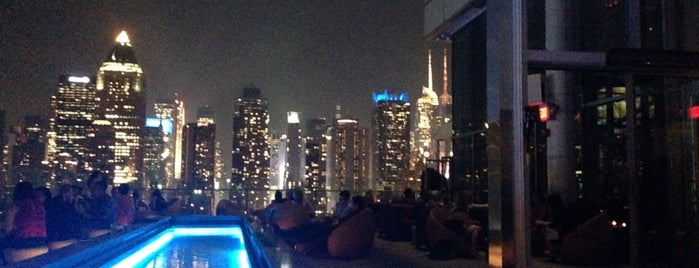 The Press Lounge is one of NYC Best Outside/Rooftop Bars.