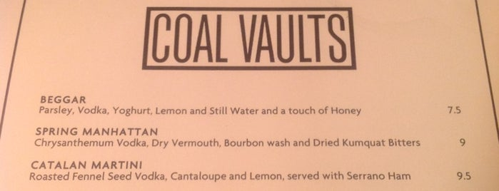 Coal Vaults is one of BarChick's Best Food.