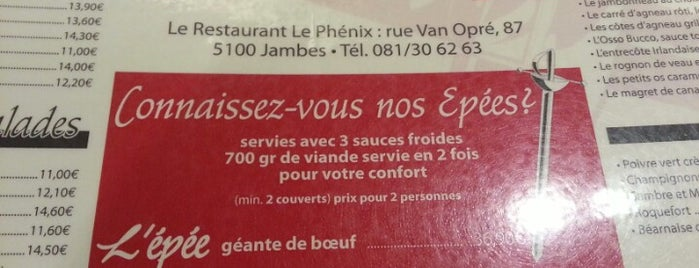 Le Phenix is one of Avis d'un gourmand.