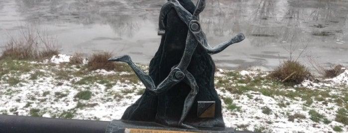 Пам'ятник спортивному орієнтуванню is one of Міні-скульптури. УЖГОРОД!.