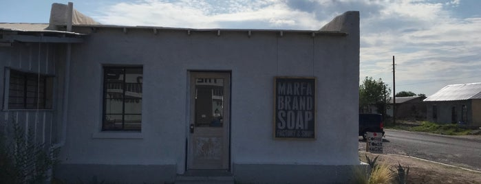 Marfa Brand Soap Company is one of Marfa.