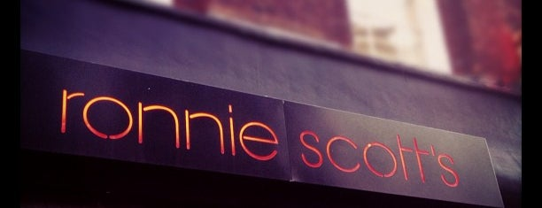 Ronnie Scott's Jazz Club is one of Holger's favorite spots in London.