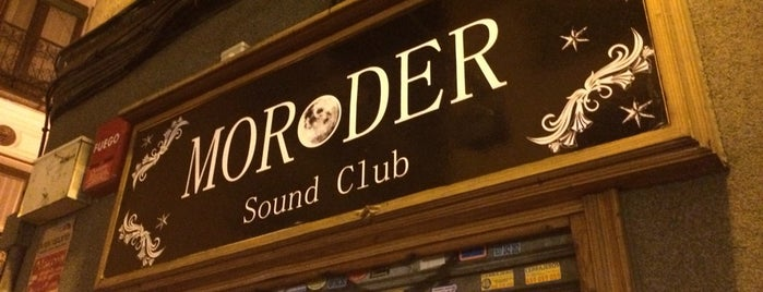Moroder Sound Club is one of Songkick Madrid.