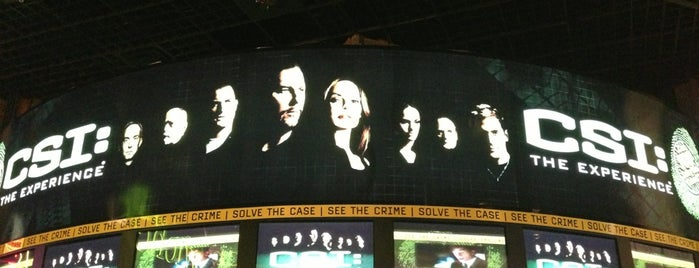 CSI: The Experience is one of Lugares favoritos de David.