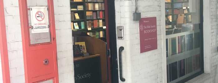 Folio Society Bookshop is one of London.