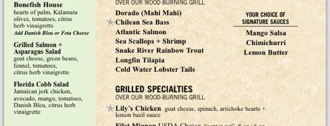 Bonefish Grill is one of Gluten Free menus.