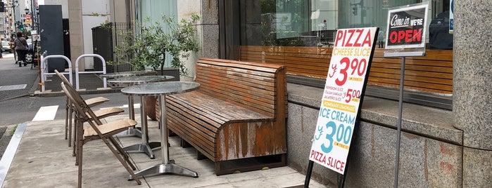 Pizza Slice & Soda Fountain is one of Posti che sono piaciuti a モリチャン.