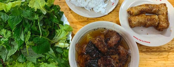 Bún Chả Hàng Quạt is one of Hanoi.