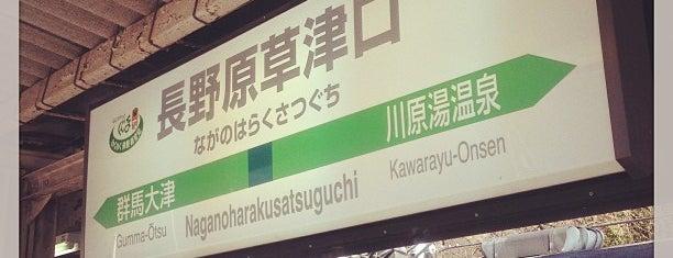Naganohara-Kusatsuguchi Station is one of JR 키타칸토지방역 (JR 北関東地方の駅).