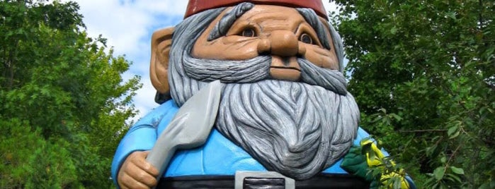 World's Largest Concrete Garden Gnome is one of Iowa.