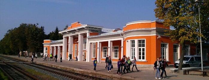 "LDZ | Dzelzceļa stacija ""Sigulda"" is one of Carl'ın Beğendiği Mekanlar."
