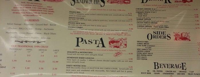 Italian Fiesta Pizzeria is one of Travel Food.