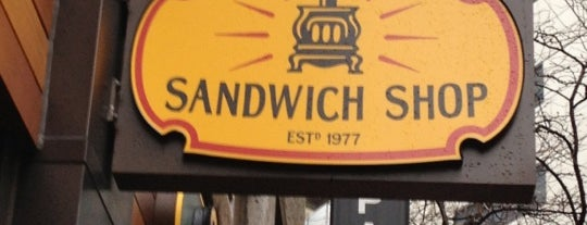 Potbelly Sandwich Shop is one of Boston restaurants.