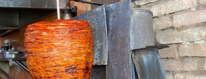 Tacos Al Pastor Sonorita De Sonora Al Sur is one of Tempat yang Disukai Vane.