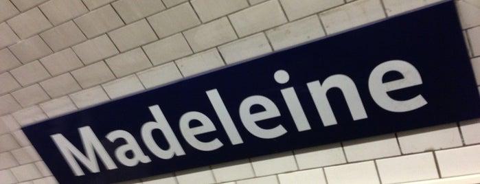 Métro Madeleine [8,12,14] is one of Paris.