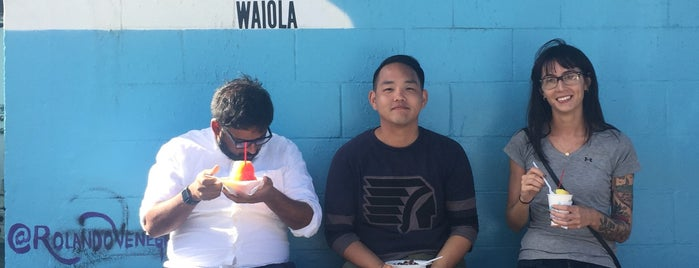 Waiola Shave Ice is one of Honolulu.