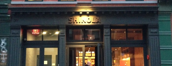 Shinola Flagship Tribeca is one of NYC 2017.