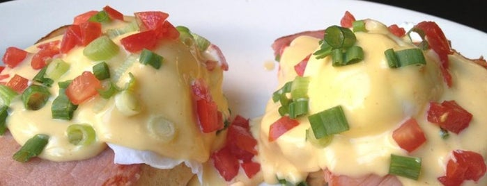 Clinton St. Baking Co. & Restaurant is one of NYC's Best Eggs Benedict Dishes.