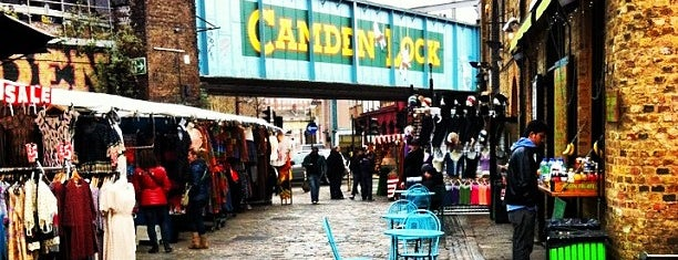 Camden Lock Market is one of London لندن.