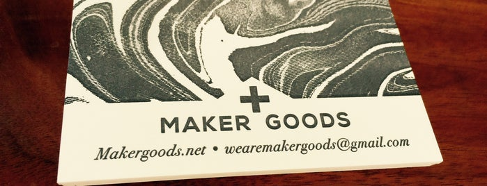 Maker Goods is one of Orte, die Nick gefallen.
