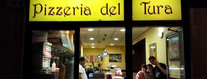 Pizzeria del Tura is one of Tempat yang Disukai Jordi.