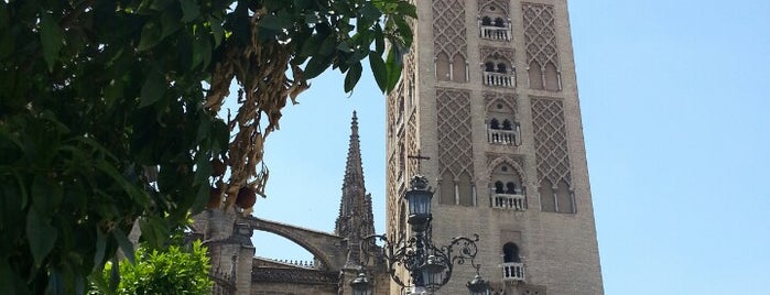 La Giralda is one of Seville.