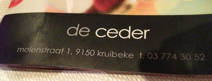 Restaurant De Ceder is one of Gault Millau.
