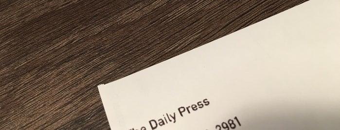 The Daily Press is one of Lugares favoritos de Joyce.