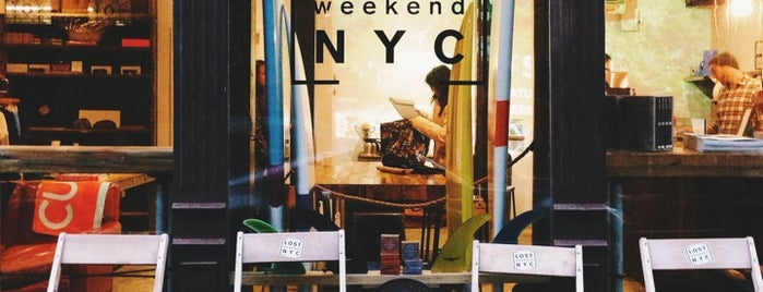 Lost Weekend NYC is one of NYC coffee shops to try.