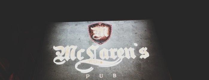 McLaren's Pub is one of Hannah Jade 님이 좋아한 장소.
