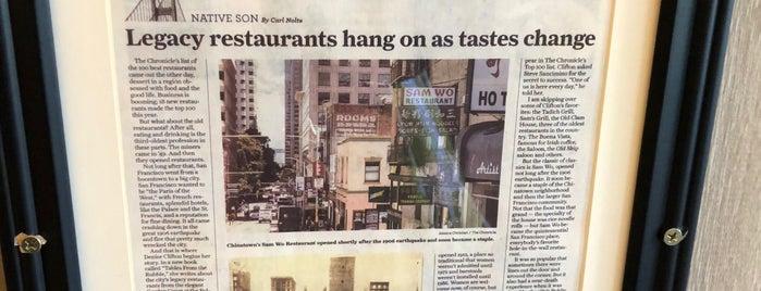 Sam Wo Restaurant is one of San Francisco.