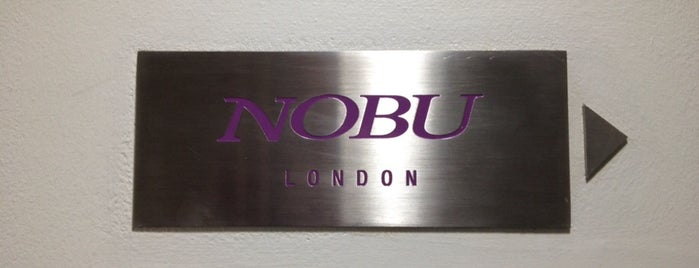 Nobu is one of London List.