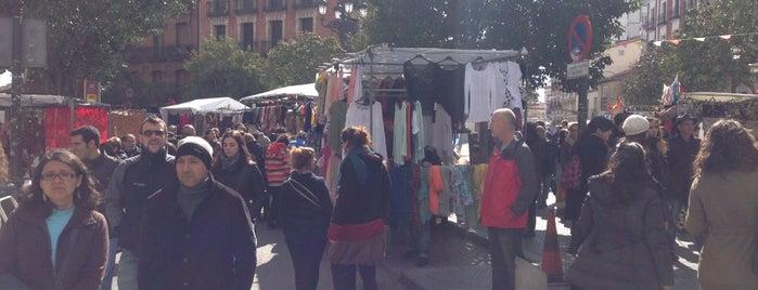 El Rastro (Mercadillo) is one of Madrid, Spain 2020.