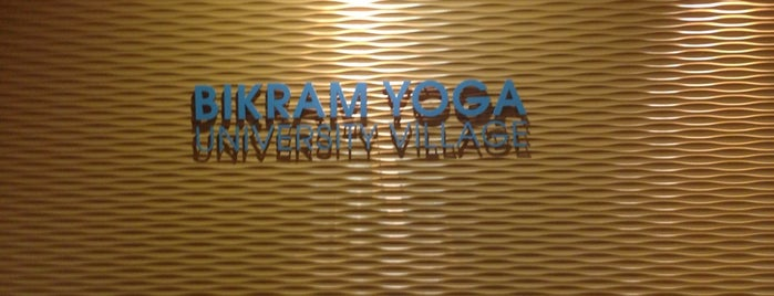 Bikram Yoga University Village is one of Elle's Liked Places.