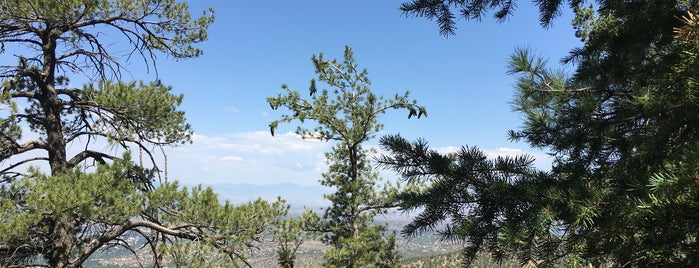 Atalaya Peak is one of Santa Fe.